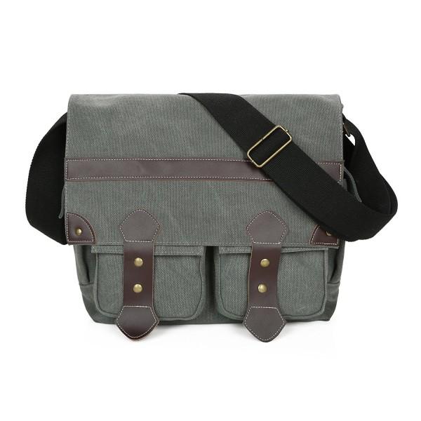 Leather Vintage Military Messenger Shoulder
