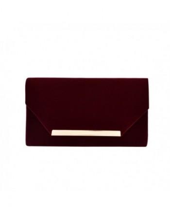 Elegant Velvet Evening Handbag Burgundy