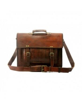 Leather Messenger Genuine Briefcase Satchel