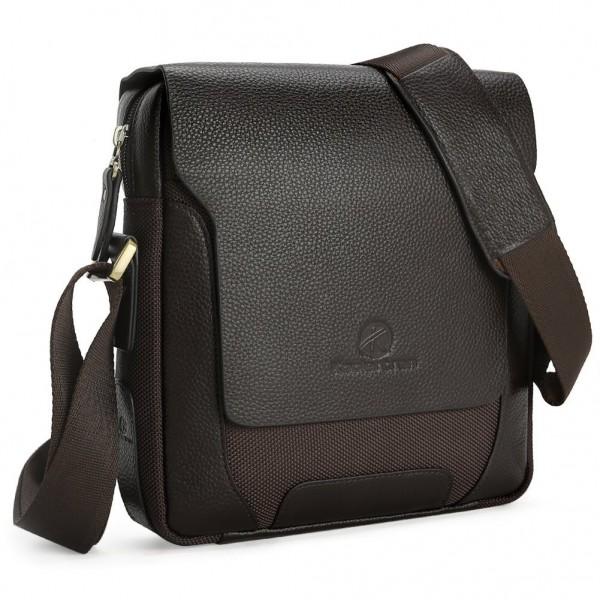 b028738518 Men Male Genuine Leather Shoulder Bag Handbags Briefcase for the ...