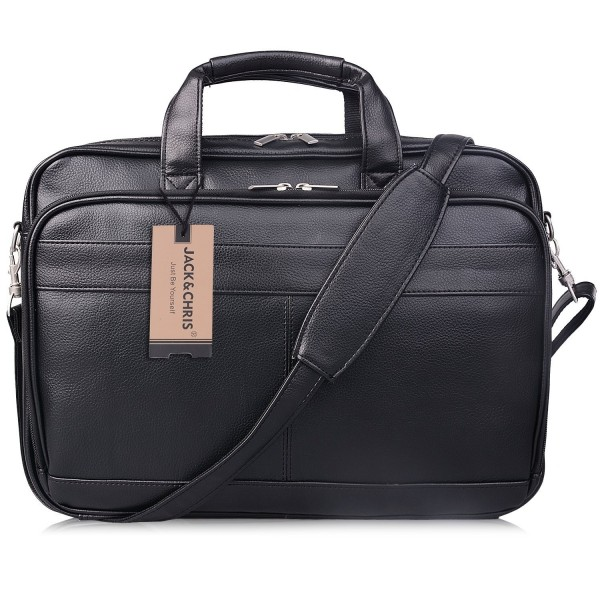 Jack Chris Leather Briefcase Messenger