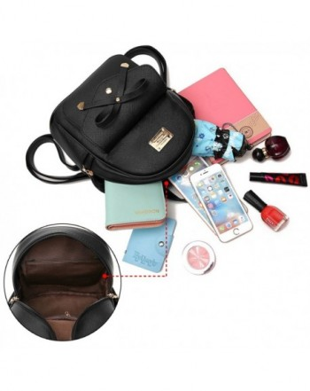 0396319a4 Cute Mini Leather Backpack Fashion Small Daypacks Purse for Women Handbags  & Wallets