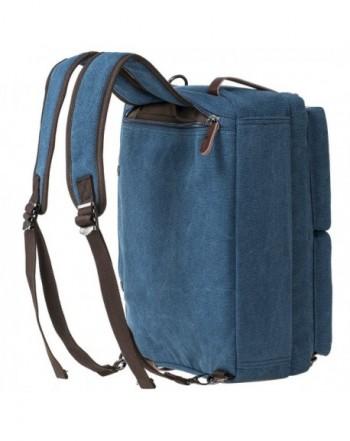 Vintage 3 Way Convertible Briefcase Laptop Backpack Messenger Bag Hybrid Backpack Vintage Blue Cu12o007k0n