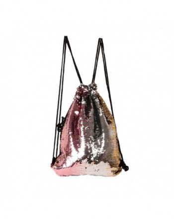 Reversible twinkling Backpack Drawstring Packsack