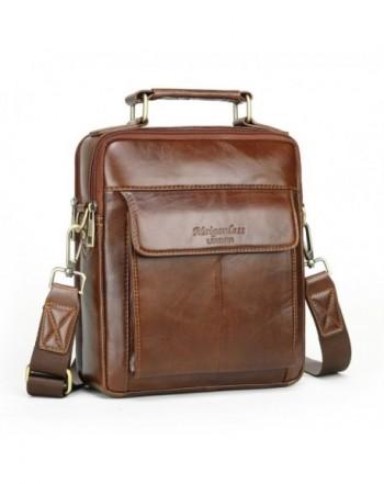Leather Crossbody Shoulder Messenger Briefcase