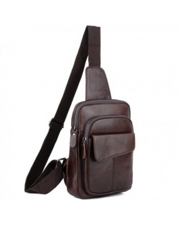 YALUXE Genuine Leather Shoulder Backpack