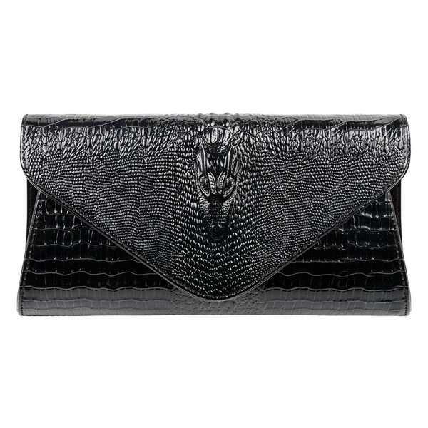 Bidear Genuine Crocodile Envelope Clutches