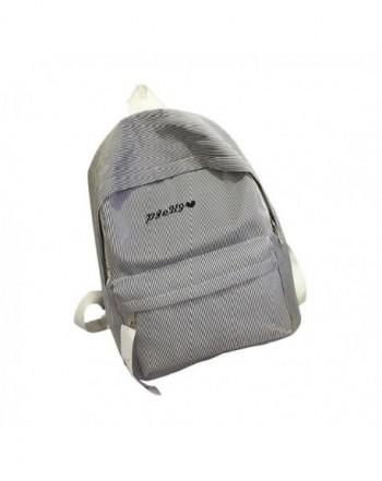 Backpack Durable Striped Shoulder Satchel