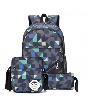 Resistant Polyester Backpack Messenger Geometric