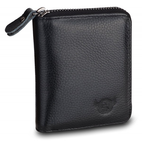 Admetus Genuine Leather Zip around Bifold