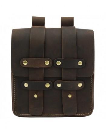 LXFF Genuine Leather Messenger Shoulder