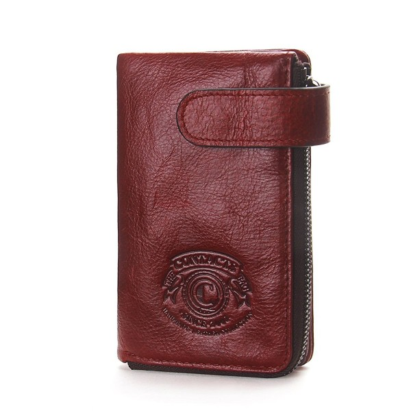 Contacts Genuine Leather Zipper Pocket