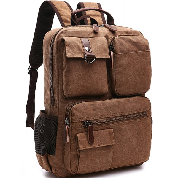 Yousu Canvas Backpack School Daypack