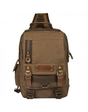 Vbiger Canvas Backpack Travelling Coffee