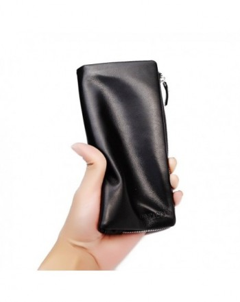 Contacts Genuine Leather Holder Zipper