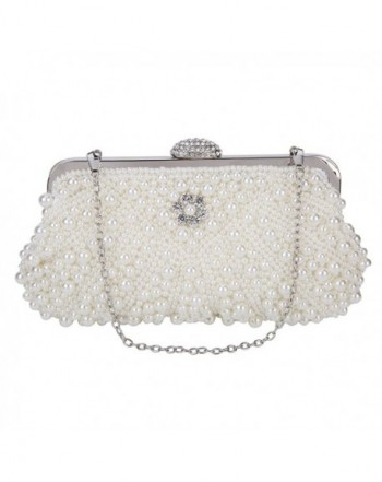 SISJULY Clutches Evening Handbags P2 White
