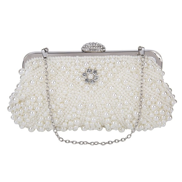 0712a7895a ... Women s Lace Floral Clutches Evening Bags Purse for Wedding Party  Bridal Handbags - P2-white - CU182QC48MN. SISJULY Clutches Evening Handbags  P2 White