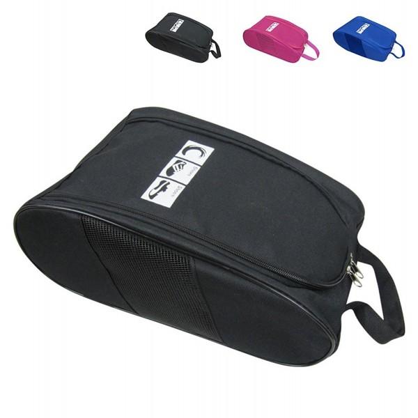 21f37d56b2c6 Portable Oxford Travel Shoe Tote Bag Waterproof Shoe Packing Storage Gym  Organizer - Black - C1182L73H3E