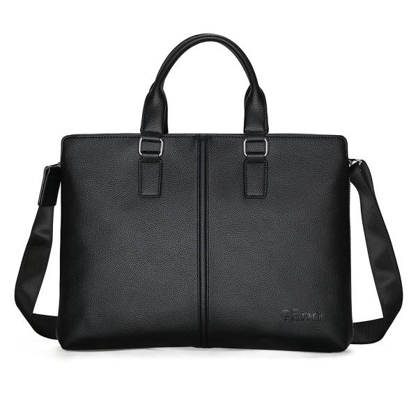 Leather Briefcase Shoulder Messenger Business