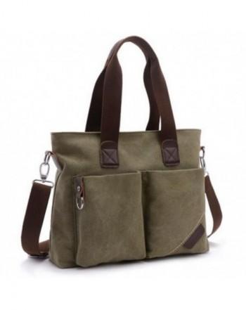 Handle Satchel Handbags Canvas Shoulder