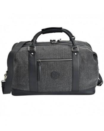 ESTALON Leather Overnight Weekend Luggage