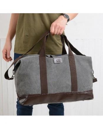 984187e1b6e2 Classic Canvas Duffel Bag Weekender Overnight Travel Tote Oversized Luggage  Bag - Grey - C1185AESG6Y