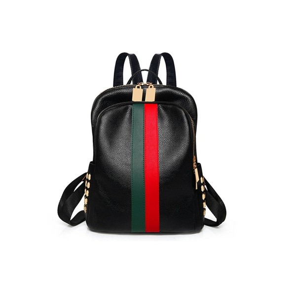 Alovhad fashion leather backpack Red Green