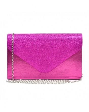 Envelope Handbag Evening Glitter Frosted
