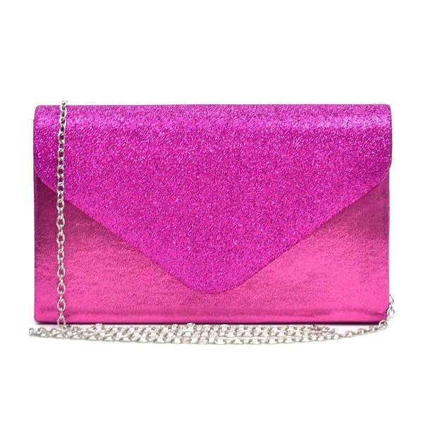 149a1527187b Womens Envelope Flap Clutch Handbag Evening Bag Purse Glitter ...