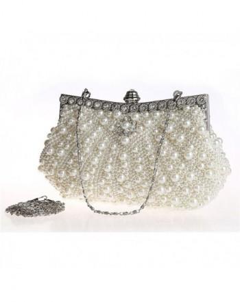 Kingluck Diamond Occasion Handbags off white