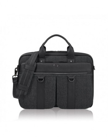 Solo Mercer Laptop Briefcase Black