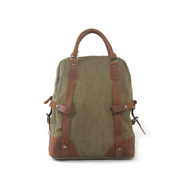 486bb16fea286 Canvas Leather Tote Bag Handbag Convertible Laptop Backpack 15 inch ...