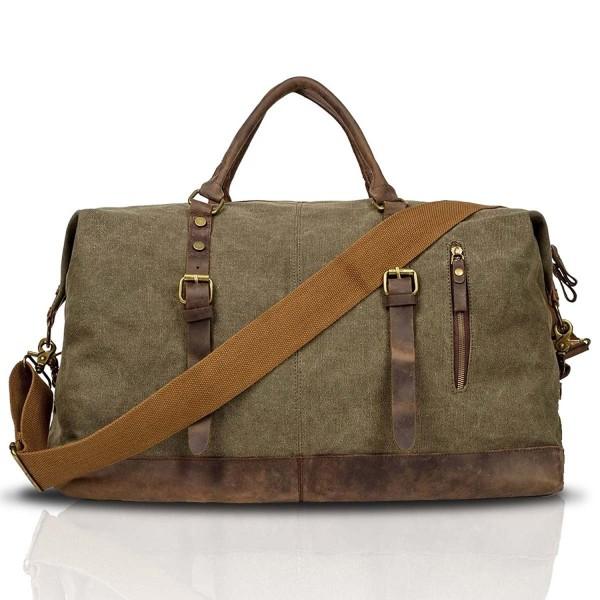 BAIGIO Canvas Leather Weekend Luggage