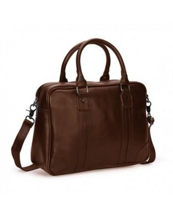 BAIGIO Laptop Briefcase Shoulder Coffee