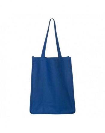 Q Tees Q125400 Gusseted Canvas Shopper