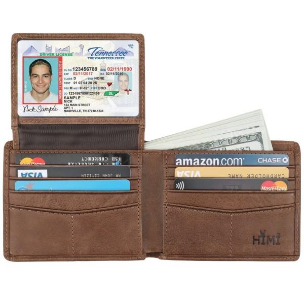 Wallet Men Genuine Leather Blocking Stylish