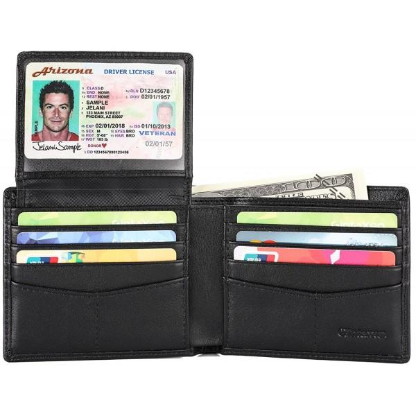 Genuine Leather Bifold Wallet Blocking
