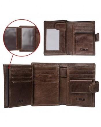 Blocking Leather Wallet Closure Genuine