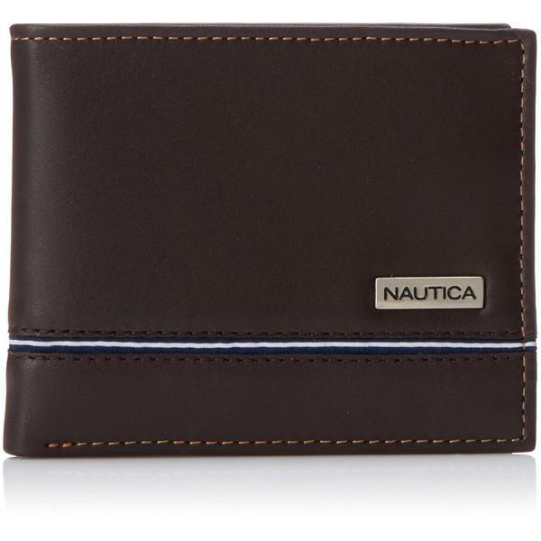 Nautica Multi Card Passcase Wallet Brown