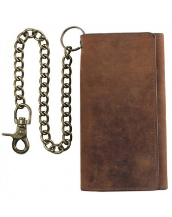 Blocking Tri fold Cowhide Leather Wallet