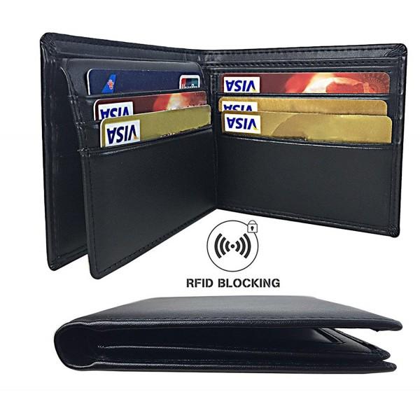 Aonal Blocking Leather Bifold Wallet