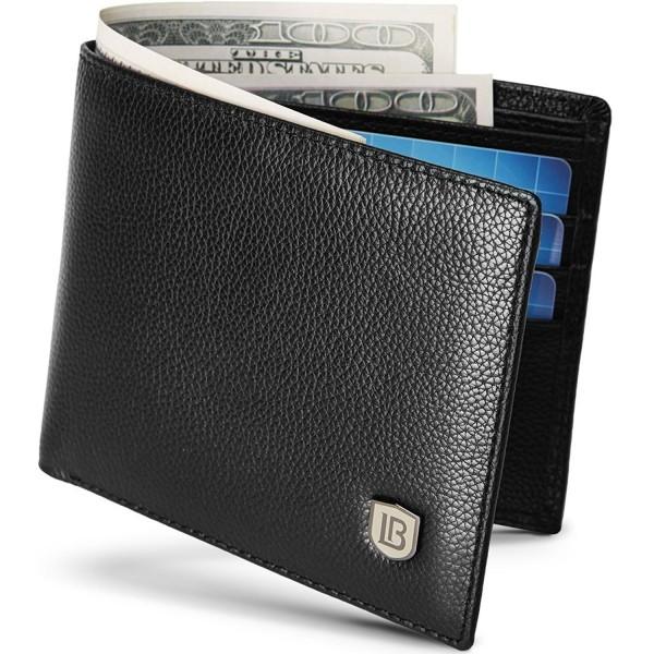 b8ddda715064 Wallets for Men Genuine Leather RFID Blocking Bifold Slim Front Pocket  Wallet - Black - CY18829DUA9