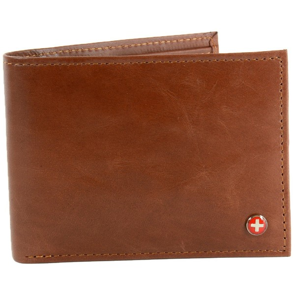 Alpine Swiss Leather Bifold Passcase