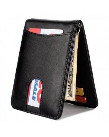 Wallet Leather Front Pocket Blocking