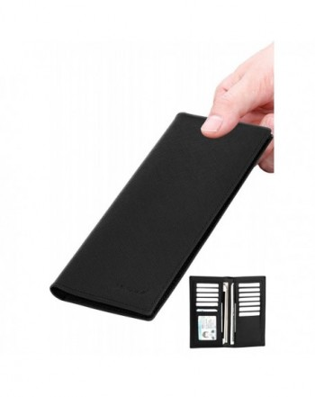Wallet Leather Bifold Holder Blocking