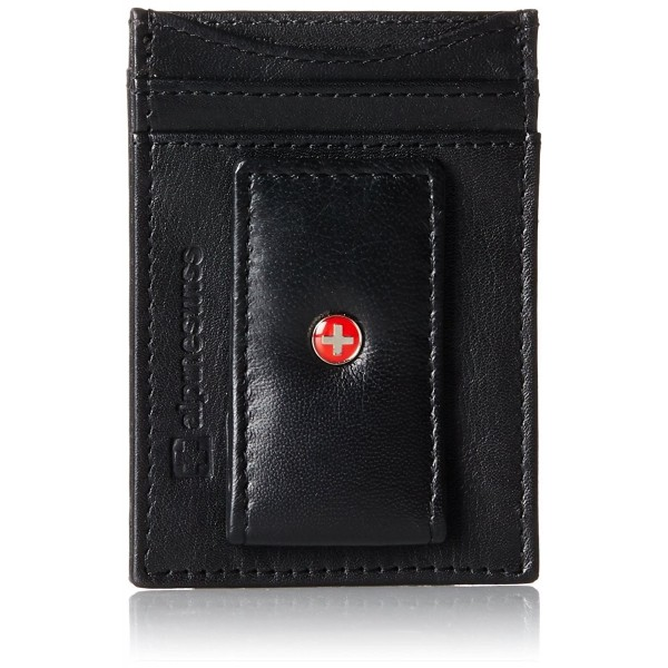 8cc1fdf8339e Mens Wallet Leather Money Clip Thin Slim Front Pocket Wallet - Black -  CY115N7VEG1