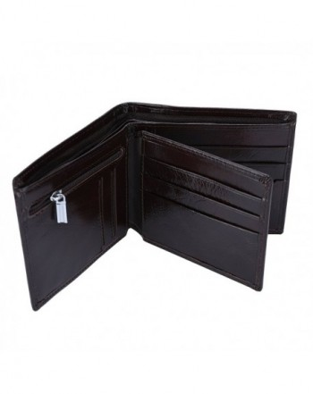YOOMALL Trifold Leather Wallets Blocking