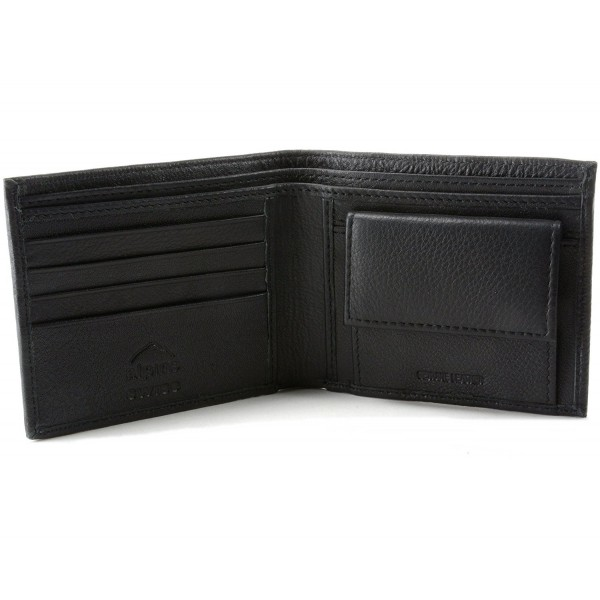 Alpine Swiss Leather Bifold Sections