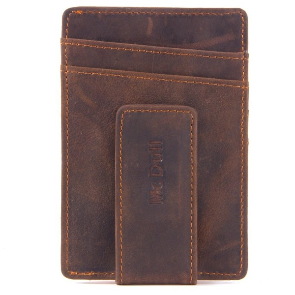 f8df5960d641 Mens Money Clip Wallet - Genuine Leather Magnet Front Pocket Wallet ...