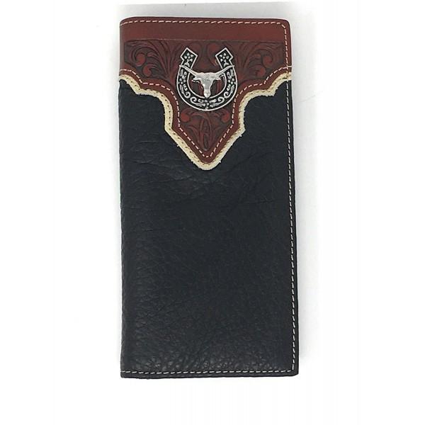 Premium Genuine Leather Longhorn Checkbook